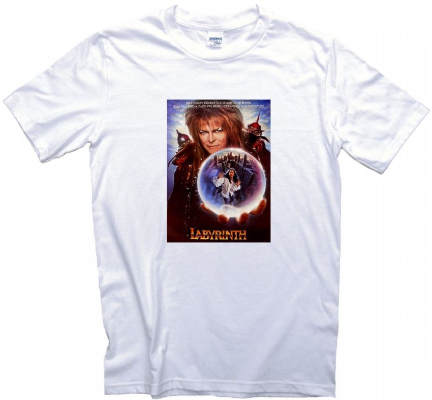 Labyrinth  Movie Poster T-Shirt Gents Ladies Kids Sizes Classic Film Gift